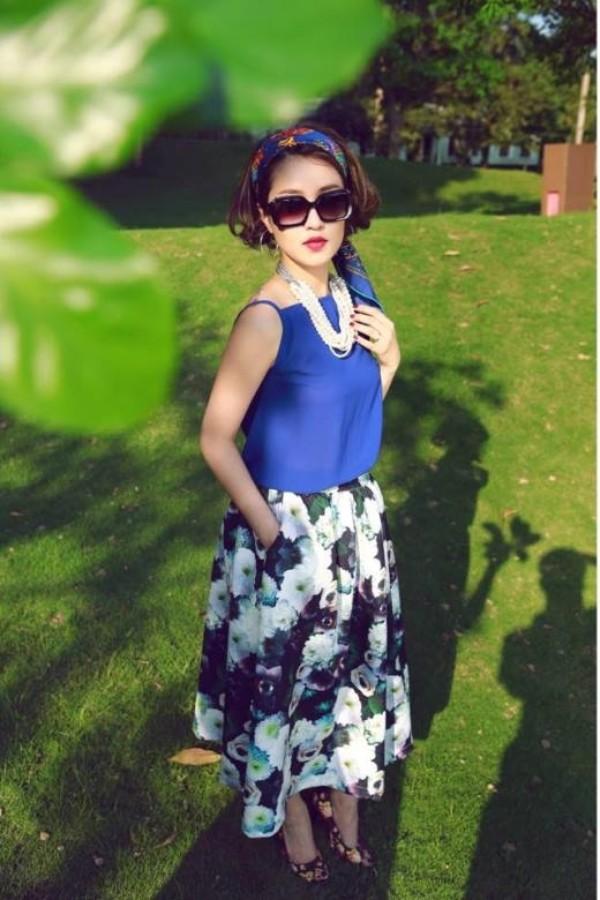 Dù hôn nhân không được như ý nhưng Mi Vân vẫn luôn lạc quan và yêu đời.