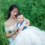 Ảnh đẹp mẹ đơn thân và con đẹp rạng ngời