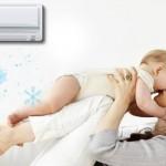 Dùng điều hòa sai cách có thể gây hại cho trẻ sơ sinh